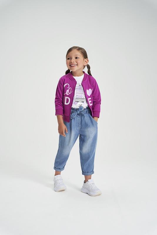 Детски спортен суитшърт за момиче iDO 42279